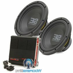 "pkg 2 MEMPHIS SE1040 10"" SUBWOOFERS + PRECISION POWER TRAX1."