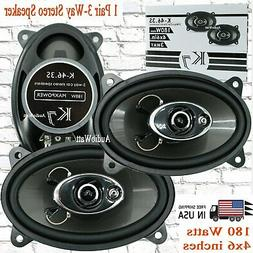 """K7  180W 4 x 6""""   4-Way Coaxial Car Speaker CEA Rated  -1 Pa"""
