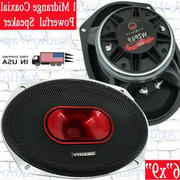 "1x Gravity WZP69 Car Audio 6""x9"" 4-Ohm Midrange 800 Watts Co"