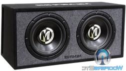 2 12 subwoofers ported box loaded enclosure