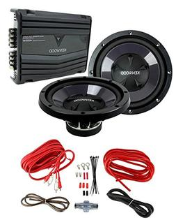 "2) New Kenwood KFC-W112S 12"" 1600W Car Subwoofers + KAC-5206"
