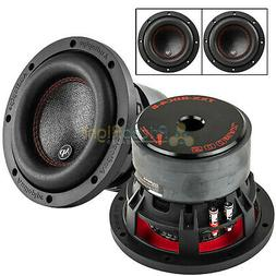 """2 Pack Audiopipe 6.5"""" Subwoofers Dual 4 Ohm 500 Watts Max Au"""