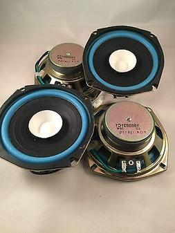 """2 Pair 5"""" 1/4 inch Quality Dual Cone Car Audio  Replace or p"""