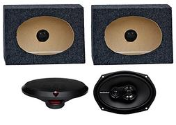 "2) Rockford Fosgate R169X3 6x9"" 130W Car Speakers + 2) Angle"