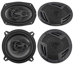 "2 Rockville RV69.4A 6x9 1000w 4-Way Car Speakers+2 5.25"" 600"