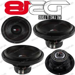 """2) DS18 SLC 12S 12"""" Car Subwoofer 12in 1000W Max 4 Ohm SVC 1"""