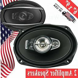 "2x PIONEER 5-WAy 6x9"" 700 Watts CAR AUDIO SPEAKERS REPLACED"