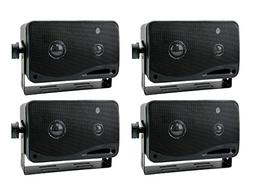 "4) New PYRAMID 2022SX 3.25"" 400w 3-Way Car Audio Mini Box Sp"