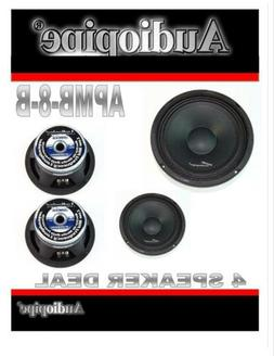 4 AUDIOPIPE APMB 8 B 8 FULL RANGE CAR AUDIO DJ LOUDSPEAKER L
