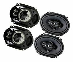 4 Pioneer 5x7 / 6x8 Inch 4-Way 350 Watt Car Stereo Speakers
