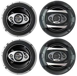 "4) NEW BOSS AUDIO P65.4C 6.5"" 4-Way 400W Car Audio Coaxial S"