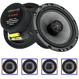 """4 Pack 6.5"""" 2-Way Coaxial Car Audio Speakers 160W Max Grills"""