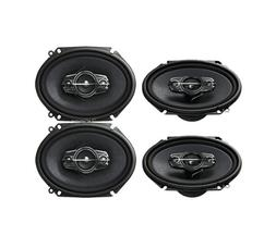 4) New Pioneer TS-A6885R 5x7/6x8 Car Audio Speakers 4 Way 35