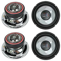 "4) New PYRAMID PW677X 1200W 6"" Car Audio Subs/Subwoofers Pow"