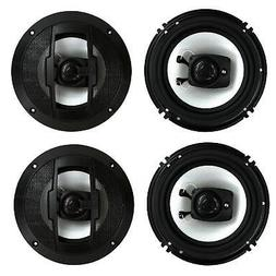 "4) New Boss Riot R63 6.5"" 600W 3 Way Car Audio Coaxial Speak"