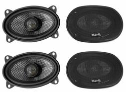 "American Bass SQ 4.6 4x6"" 50w RMS Car Speakers with Neo Swi"