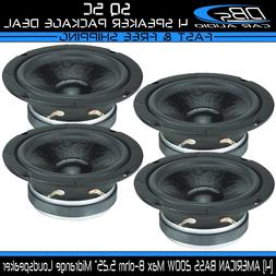 "American Bass SQ 5C 5"" Midrange Pro Car Audio Loud Speaker 8"