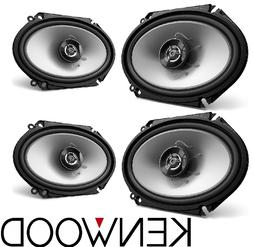 "4 x AUTHENTIC KENWOOD KFC-C6866S 6x8"" 2-WAY CAR COAXIAL SPEA"
