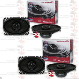 "4 x PIONEER TS-G4645R 4"" x 6"" CAR AUDIO 2-WAY COAXIAL SPEAKE"