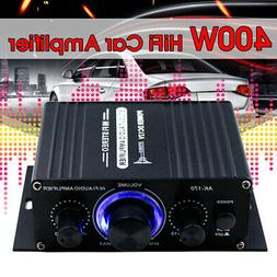 400W Stereo HIFI Car LED Light 2Channel Home Power Sound Amp