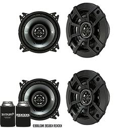 Kicker CSC4 4-Inch  Coaxial Speakers, 4-Ohm Bundle