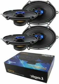 "4x 5x7"" 6x8"" 2 Way Coaxial High Power Speakers 800 Watts 4 O"