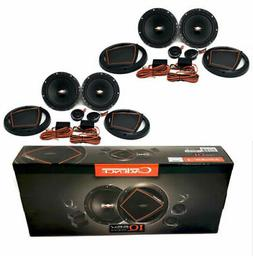 "4x 6.5"" Pro Audio 2-Way Component Speakers 300 Watt 4 Ohm Tw"