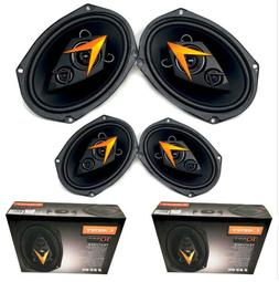 "4x 6x9"" Car Audio 3-Way Coaxial Speakers 300 Watt 4 Ohm Cade"