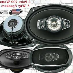 "4x Pioneer TSA6990F 700 Watts 6"" x 9"" 5-Way Coaxial Car Audi"