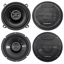 "5.25"" + 6.5"" Hifonics Front + Rear Speaker Replacement For 0"