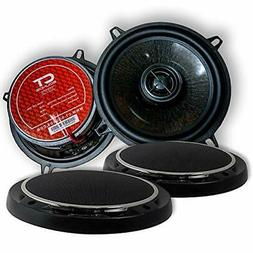 CT Sounds 5.25 Inch Coaxial Car Speaker Set, 4 Ohm Impedance