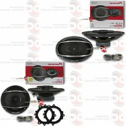 "PIONEER 6.5"" 3-WAY COAX SPEAKERS PLUS 6"" x 9"" 4-WAY COAXIAL"