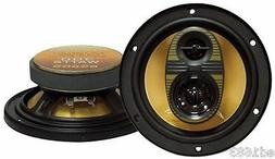"6.5"" Car Speakers 300W 3-Way System Yellow Injection-Molded"