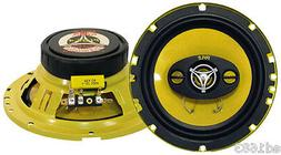 """6.5"""" Car Speakers 300W 4-Way Yellow-color poly-injected cone"""