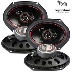 "Audiopipe 6x8"" 3-Way CSL Series Coaxial Car Speakers 300 Wat"