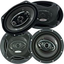 "Audiobank 6x9"" 1000W 4-Way + 6.5"" 600W 3-Way Car Audio Stere"