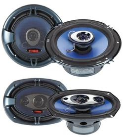 "Audiobank 6x9"" 700W 3-Way + 6.5"" 400W 4-Way Car Audio Stereo"