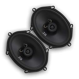 CT Sounds Bio 5x7 Inch 2 Way Silk Dome Coaxial Car Speakers