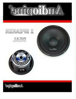 "2 Pcs Audiopipe APMB-8B 8"" 500 Watts Loud Speakers Full Rang"