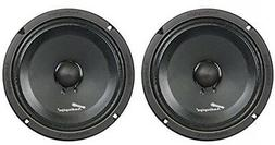 "1 Pair of AudioPipe APMB-8SB-C 8"" Full Range Car Audio DJ Se"