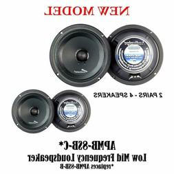 "AUDIOPIPE APMB-8SB-C 8"" TWO PAIR FULL RANGE CAR AUDIO DJ SE"