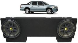 """ASC Package Chevy Avalanche 02-13 Dual 12"""" Kicker C12 Subwoo"""