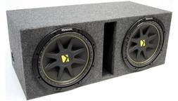 "ASC Package Dual 12"" Kicker Sub Box Vented Port Subwoofer En"