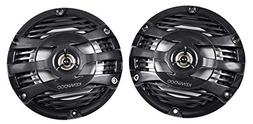 "Kenwood 6.5"" Black Marine 2 Way Speakers 150 Watts"