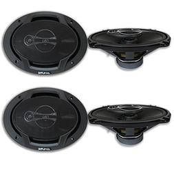 4 x Alpine 6x9-inch 3 way Car Audio Coaxial Speakers 6x9""