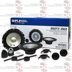 """Alpine 6-1/2"""" 6.5 inch 2-way Car audio component speakers sy"""
