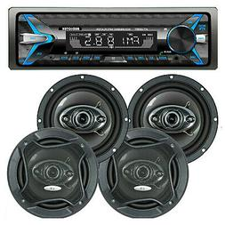 CAR AUDIO DIGITAL MEDIA PLAYER STEREO RECEIVER  WHIT  BLUETO
