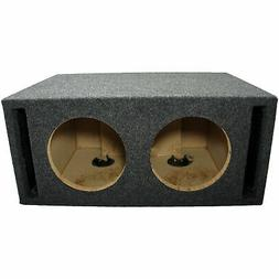 car audio dual 8 inch slot ported