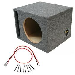 "Car Audio Single 10"" Ported Subwoofer Enclosure Stereo Bass"
