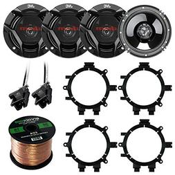 "Car Speaker Package Of 4X JVC CS-DR620 6.5"" Inch 300 Watt 2-"